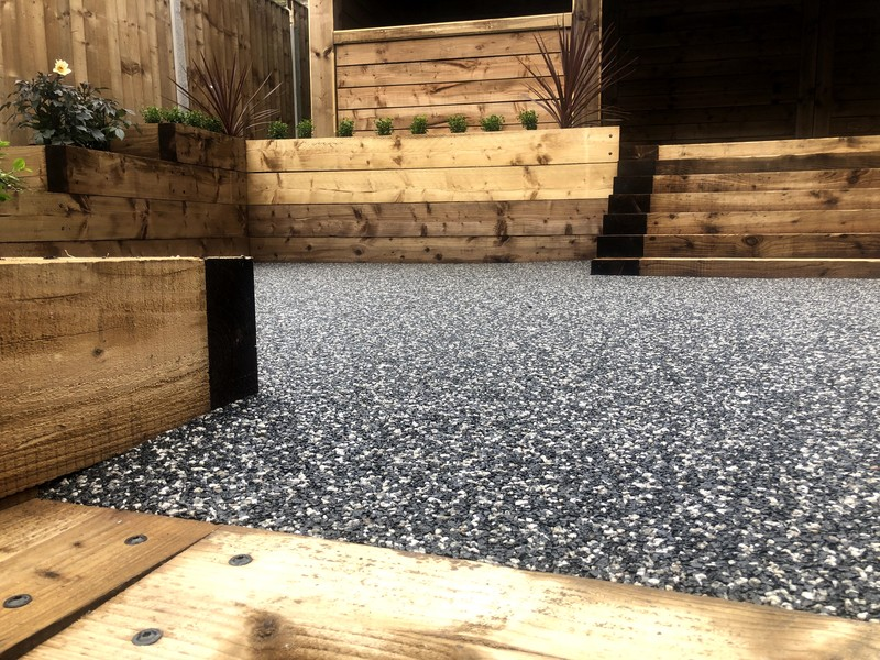 resin driveway with steps and paths in selly oak